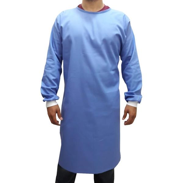 Capote Cirúrgico Brim 100% Algodão - Azul Celeste