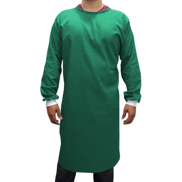Capote Cirúrgico Verde Escuro, Brim 100% Algodão