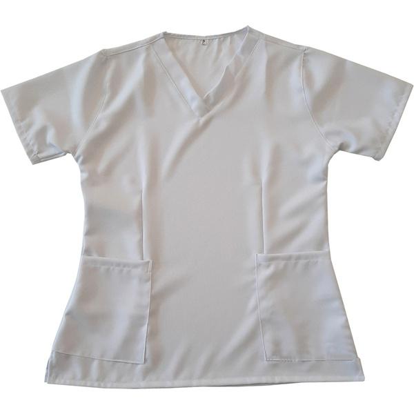Camisa Scrub Branco Gabardine - Privativo Pijama Cirurgico
