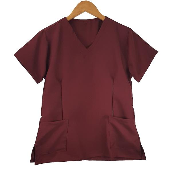Camisa Marsala Scrub Basic Pijama Cirúrgico