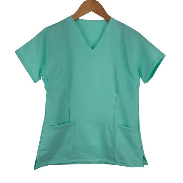 Camisa Scrub Verde Agua em Gabardine - Feminino
