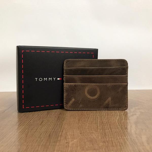 Porta Cartão Tommy Hilfiger - Marrom Escuro