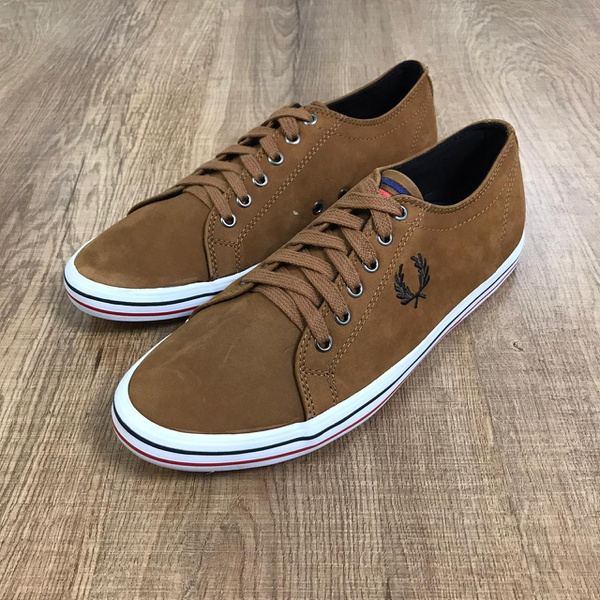 Sapatênis fred perry - marrom'