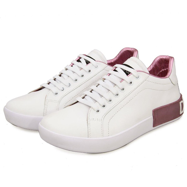 Tenis Dolce Gabbana Branco Rosa G3
