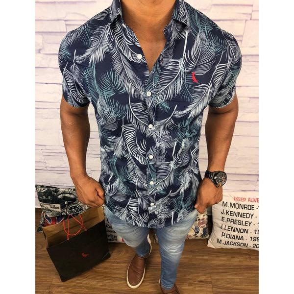 Camisa Social Manga Curta Rv - Azul Marinho