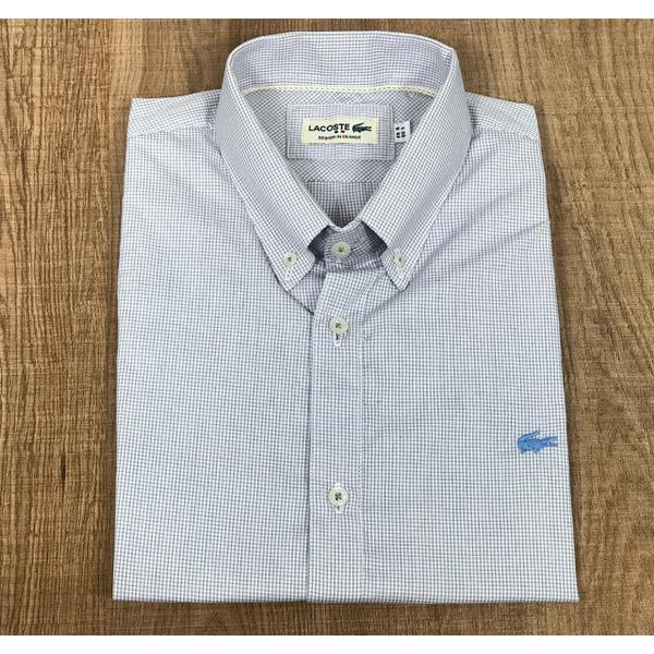 Camisa Social Manga Curta LCT DFC Logo Azul