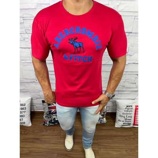 Camiseta Abercrombie vermelho Bombeiro