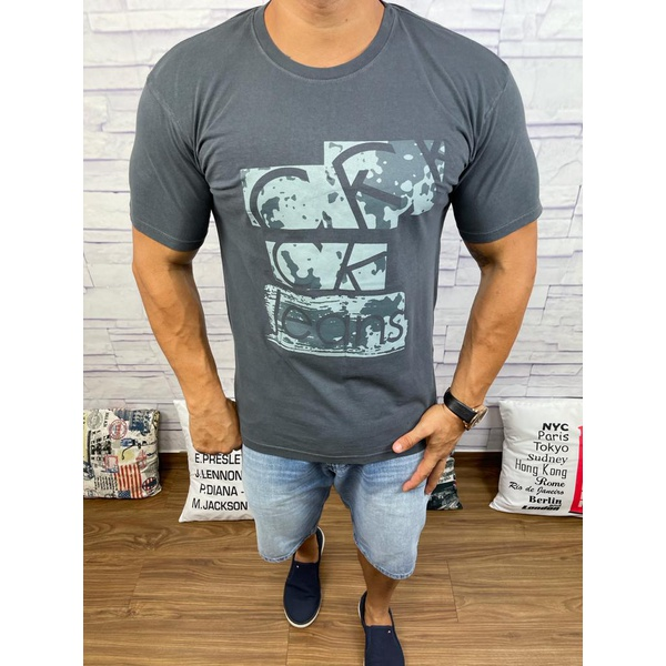 Camiseta CK Chumbo