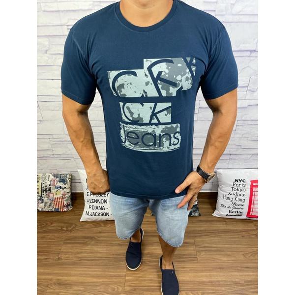 Camiseta CK Azul Marinho