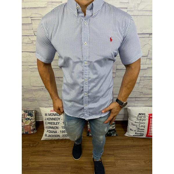 Camisa Manga Curta RL Azul Marinho