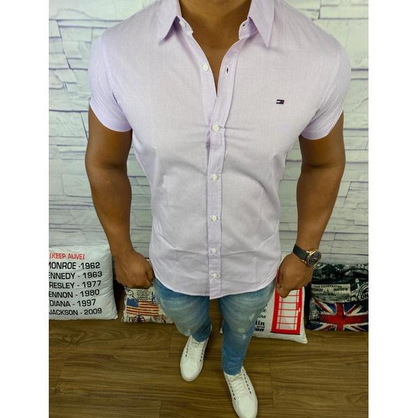 Camisa Manga Curta Tommy - Roxo Medio