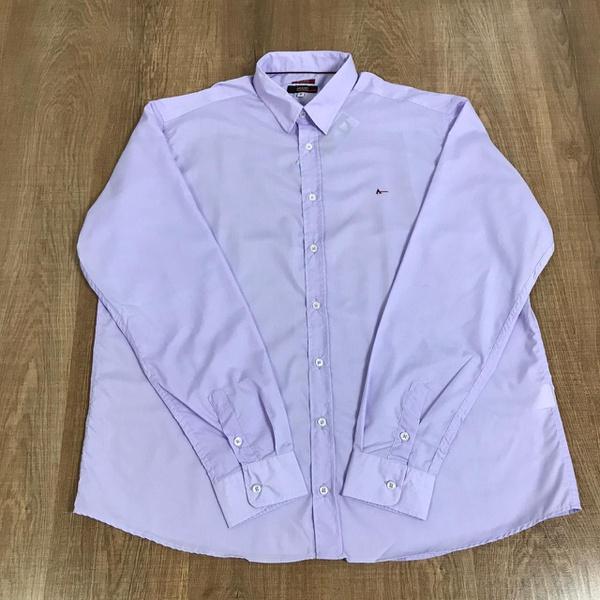 Camisa Manga Longa Aramis Plus Size - Lilás Lisa