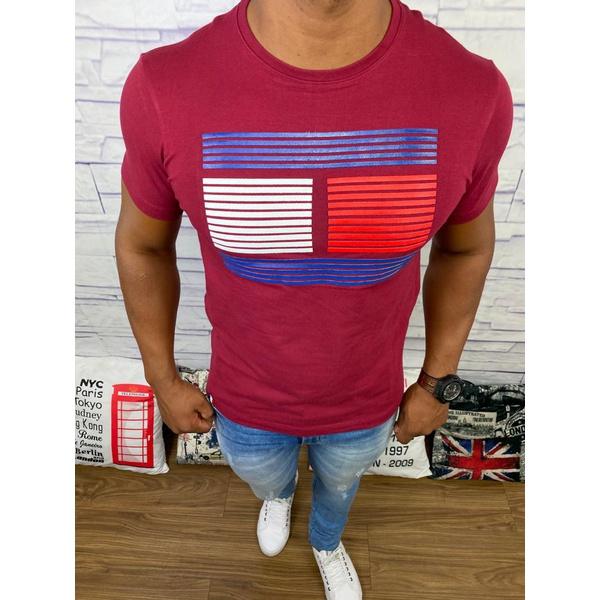 Camiseta Tommy Hilfiger - Diferenciada Vinho