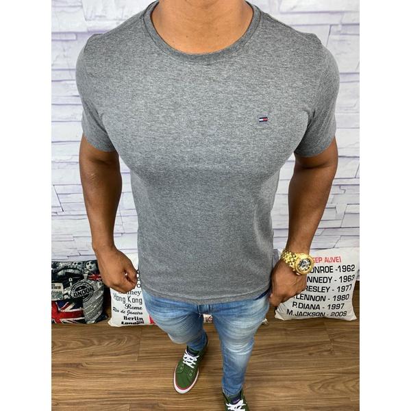 Camiseta Tommy Hilfiger- Diferenciada Chumbo