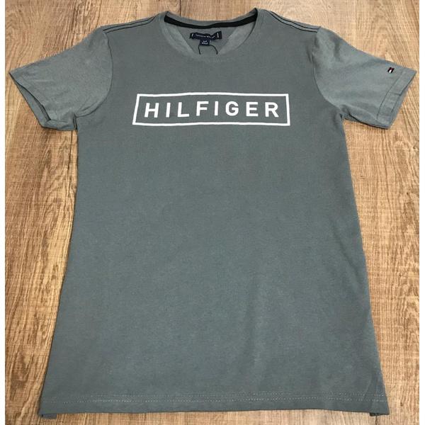 Camiseta Tommy Hilfiger- Diferenciada Cinza