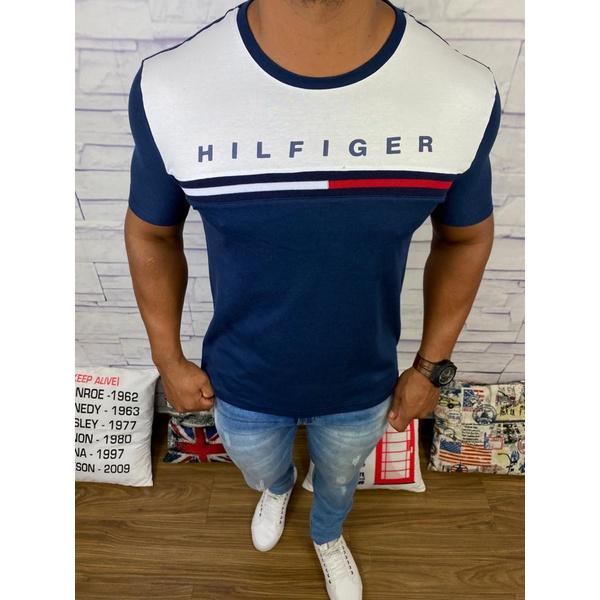 Camiseta Tommy Hilfiger - Diferenciada Azul Marinho