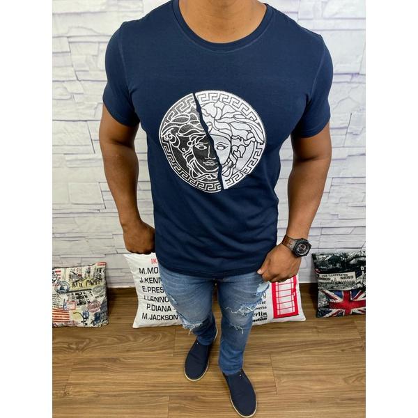Camiseta Versace Marinho