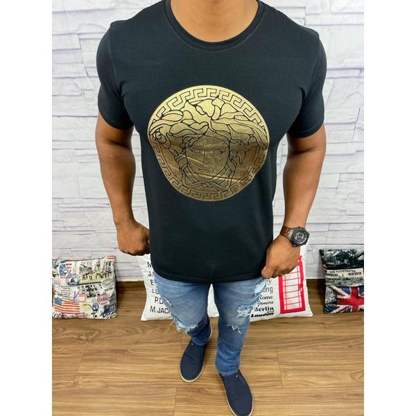 Camiseta Versace Preto Detalhado