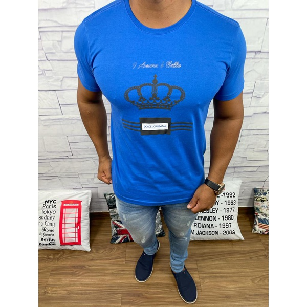 Camiseta Dolce G Azul Fechado
