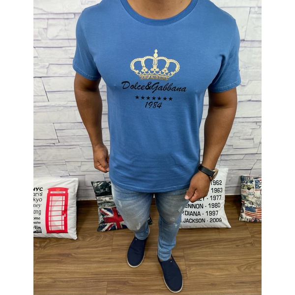 Camiseta Dolce G Azul Fosco