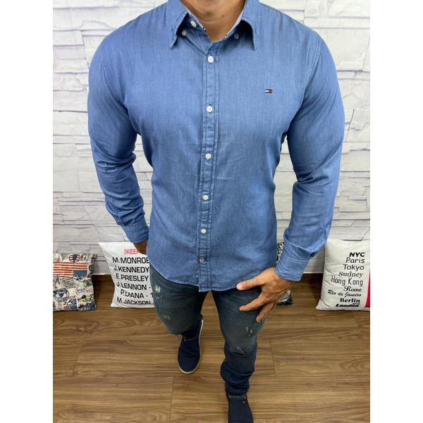 Camisa Social Jeans Tommy