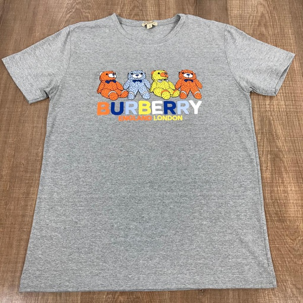 Camiseta Burberry Cinza Riscado⭐