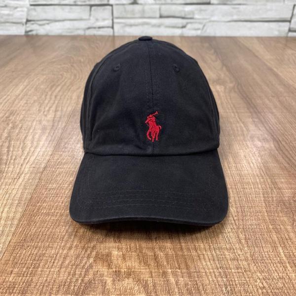 Boné RL Preto Logo vermelha