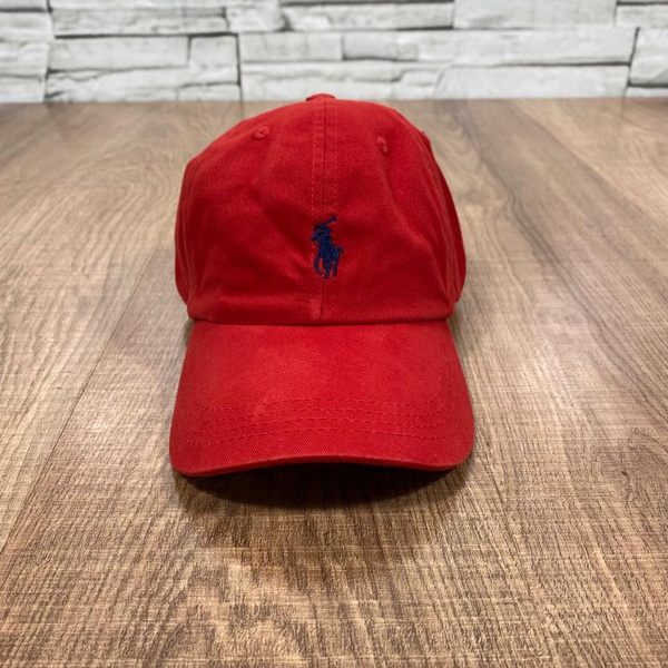 Boné RL Vermelho Logo Azul