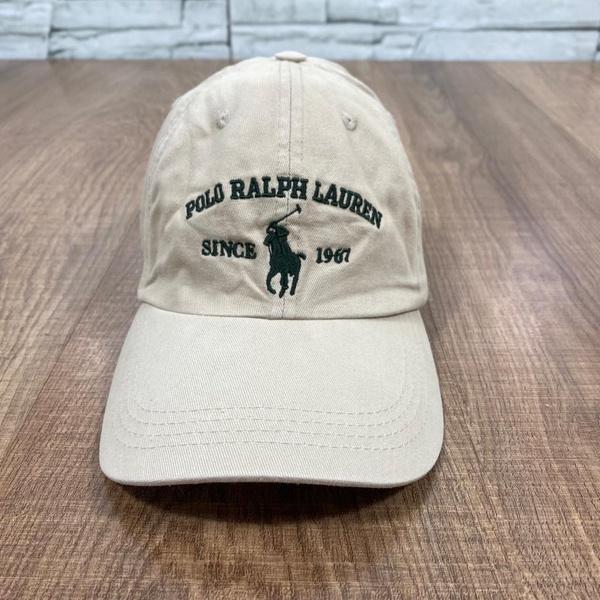 Boné RL Bege Logo Verde Militar