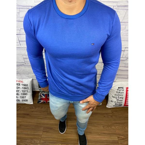 Blusa de Frio Tommy Hilfiger Moletinho Azul bic