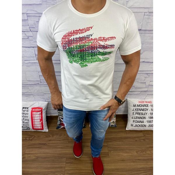 Camiseta Lacoste DFC Creme