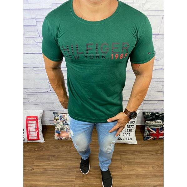 Camiseta Tommy Hilfiger- Diferenciada Verde