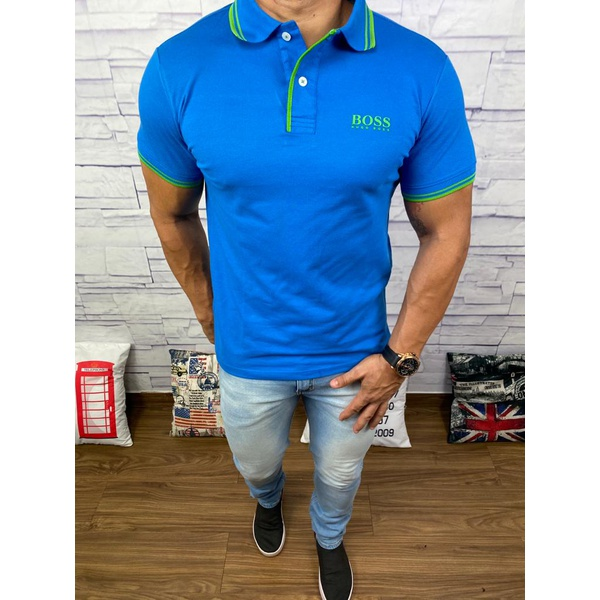 Polo Hugo Boss Azul