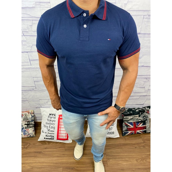 Polo Tommy Azul