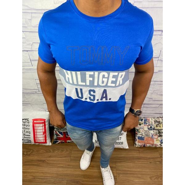 Camiseta Tommy Hilfiger - Diferenciada Azul
