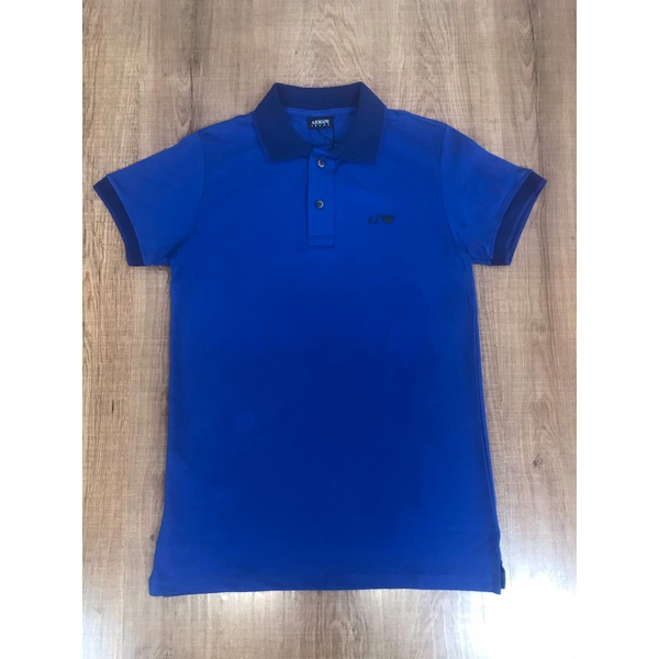 Polo Armani Diferenciada - Azul Bic⭐