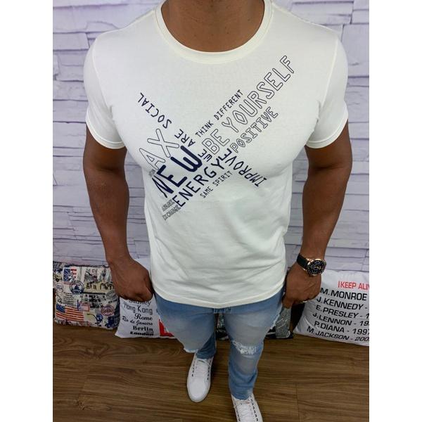 Camiseta Armani - Creme