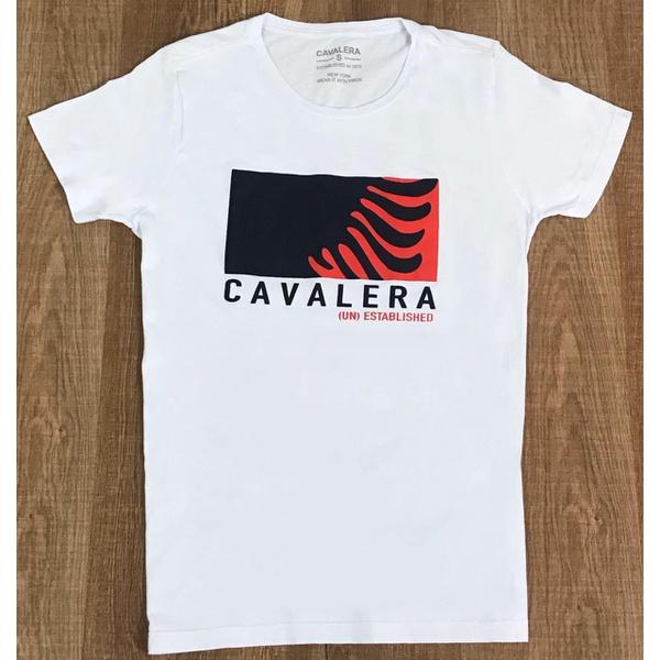 Camiseta Cavalera - Branca
