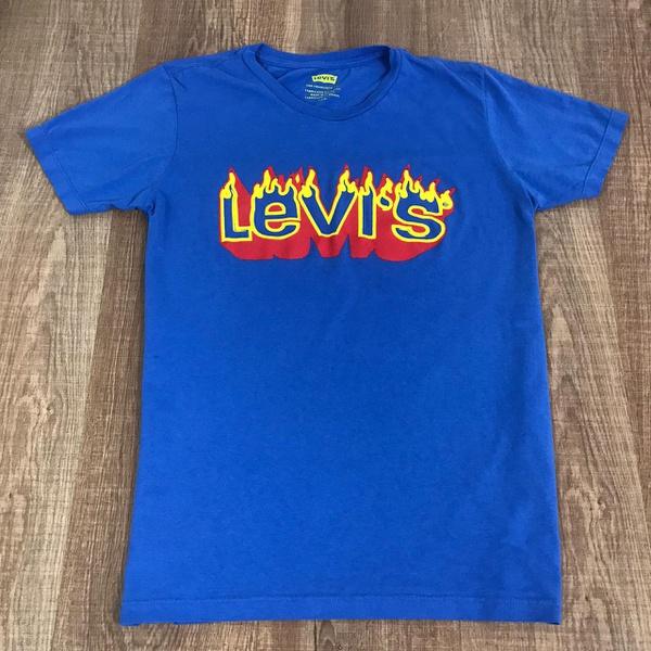 Camiseta Levis - Azul Bic⭐