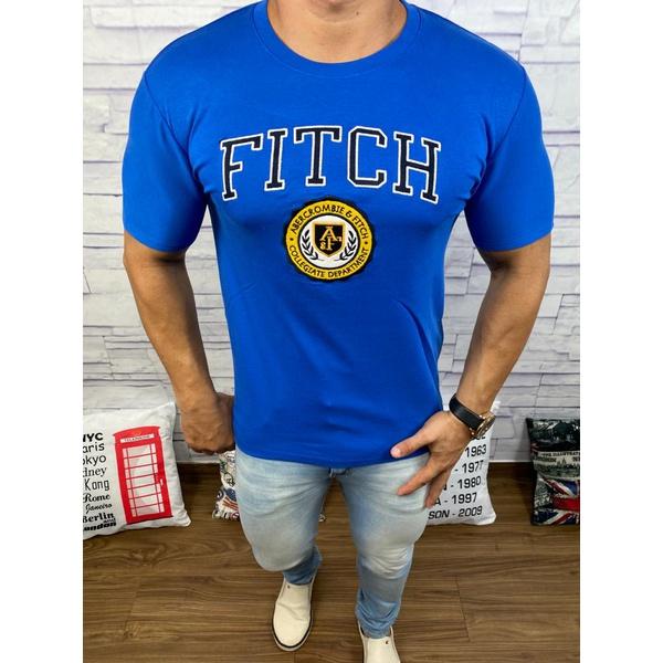 Camiseta Abercrombie Azul Bic