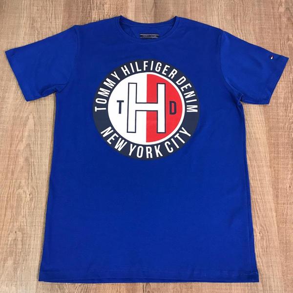 Camiseta TH - Azul Bic⭐