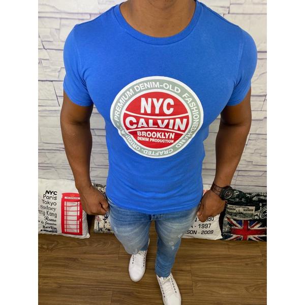 Camiseta Calvin Klein - Azul Bic