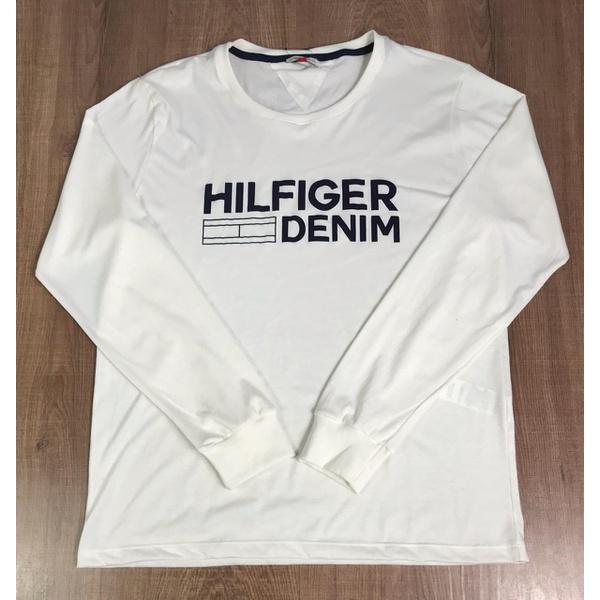 Camiseta Manga Longa Tommy Hilfiger - Creme
