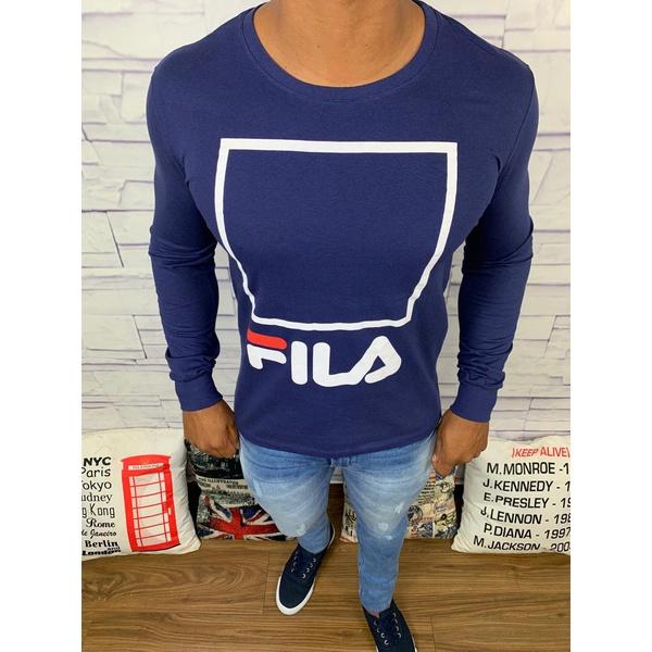 Camiseta Manga Longa Fila - Azul Marinho