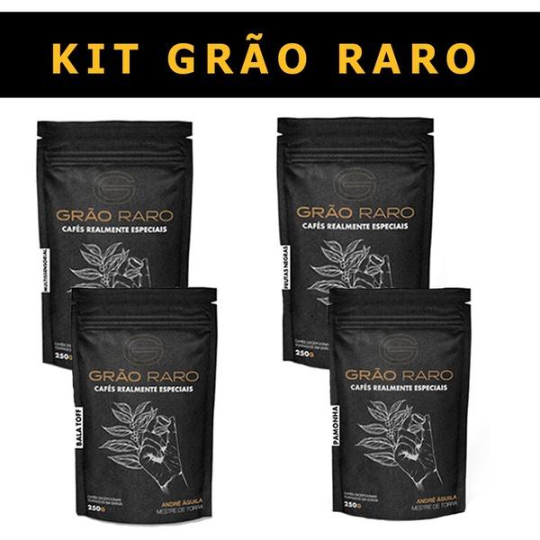 KIT GRÃO RARO - 4 pacotes de 250g
