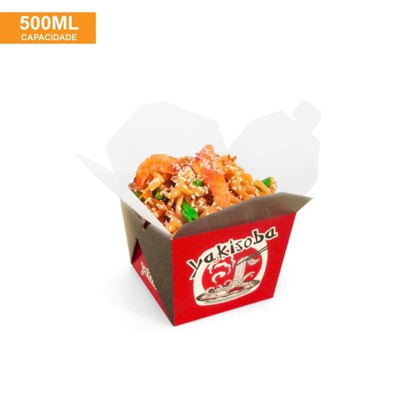 EMBALAGEM BOX ANTIVAZAMENTO YAKISOBA COMIDA JAPONESA 500ML - 50 UNIDADES