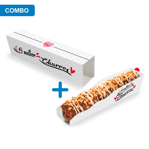 EMBALAGEM CHURROS DELIVERY RED GOURMET - 50 UNIDADES