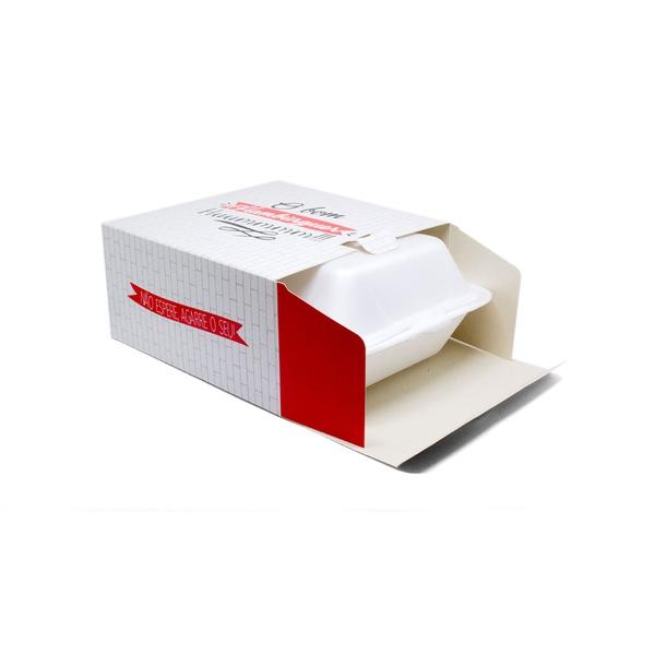 CAIXA PARA ISOPOR HF03 RED GOURMET - 50 UNIDADES