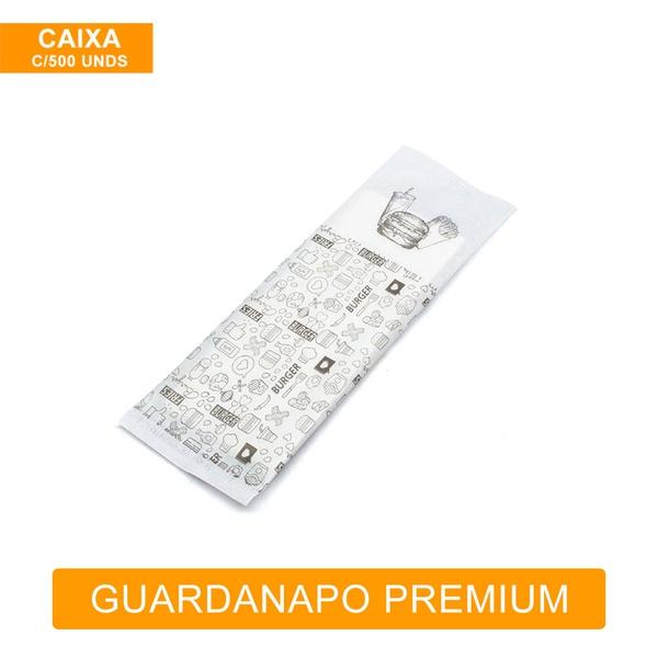 GUARDANAPO SACHÊ PREMIUM ESTAMPADO - CAIXA COM 500 UNDS