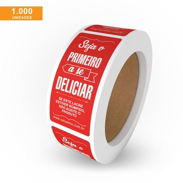 ETIQUETA LACRE DE SEGURANÇA VERMELHO - ROLO COM 1000 UNIDADES